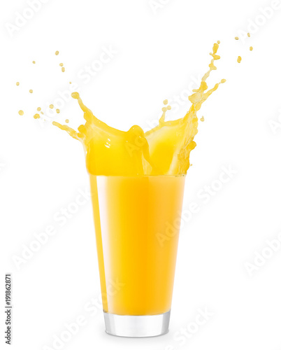 Photo sur Aluminium Jus, Sirop glass of splashing juice
