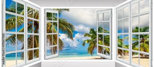 Obraz Ocean view window - fototapety do salonu