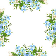 Vector Background Frame With B...