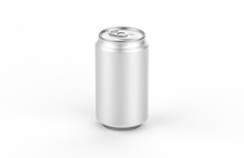 Aluminum White Can Mockup Isol...