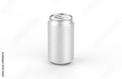 Photo  Aluminum white can mockup isolated on white background