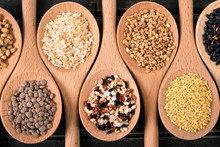 Variety Of Rice And Grains In ...