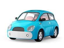 Small Cute Blue Car