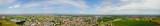 Natura e paesaggio comune di Solaro, Milano: vista aerea di un campo, case e abitazioni, coltivazione, prato verde, campagna, agricoltura, alberi. Italia. Skyline di Milano
