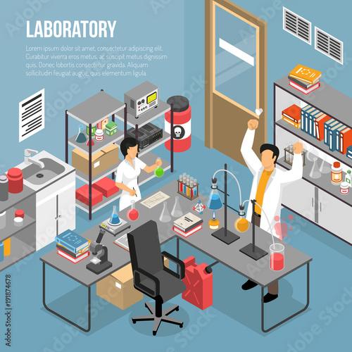 Fototapeta In The Lab Composition obraz na płótnie
