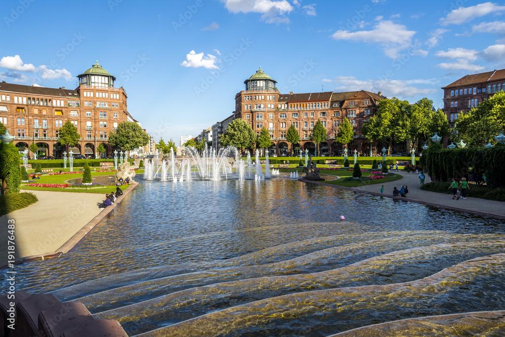 Fototapety, obrazy: Mannheim, Wasserturm
