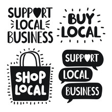 Support Local Business Concept...