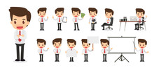 Set Of Businessman Character I...
