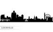 Louisville city skyline silhouette background