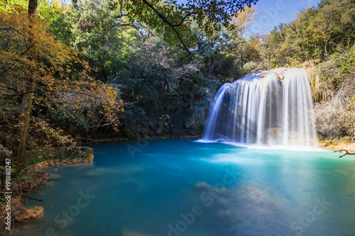 Fotografie, Obraz sillans la cascade, var, provence verte