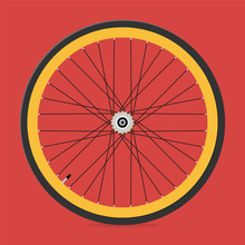 Rear Wheel Of Bicycle With Bic...