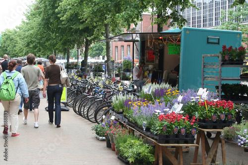 market on the marketplace in Groningen Fototapete