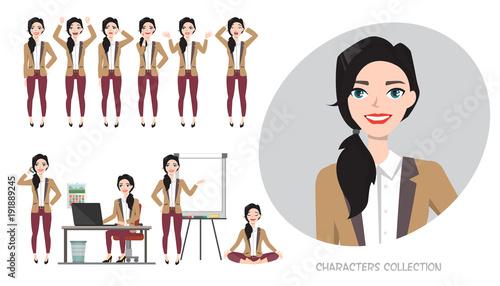 Fotografie, Obraz  Set of emotions for business woman.