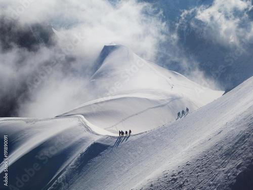 Photo Aiguille du Midi - szczyt w Alpach w masywie Mont Blanc