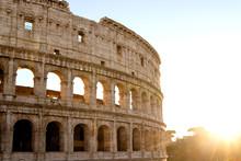 Colosseum At Morning Sunlight ...