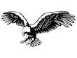 Eagle emblem black on white