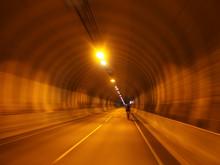 Tunel W Norwegii I Rowerzysta
