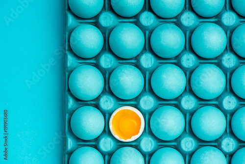 Minimal visual art design with eggs
