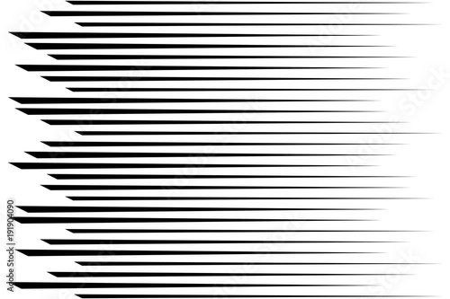 Fotografiet  Horizontal speed lines for comic books. Abstract background. Vec