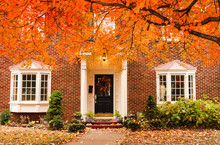 Red Brick House Entrance With ...