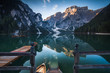 Leinwanddruck Bild - Typical beautiful landscape in Dolomites