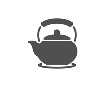 Teapot Simple Icon. Hot Drink Sign. Fresh Beverage In Kettle Symbol. Quality Design Elements. Classic Style. Vector