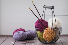 Colorful Spring Wool Yarn In A...