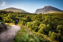Hiking Through The Scottish Highlands Towards Ben Nevis