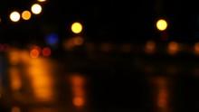 The Glowing Car Headlights In ...