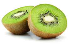 Two Halves Of Ripe Kiwi Fruit ...
