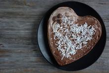 Heart Shaped Chocolate Cake. T...