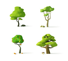 Polygonal Trees, Modern Vector...