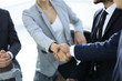closeup.the handshake business partners.