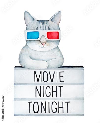 cute-szary-pregowany-kot-sobie-klasyczne-kartonowe-okulary-3d-spoczywajacej-na