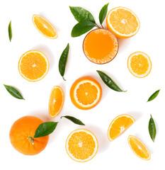 Orange slices for juice.