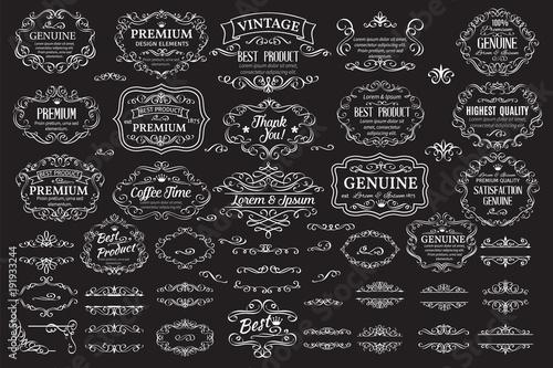 Obraz Calligraphic design elements - fototapety do salonu