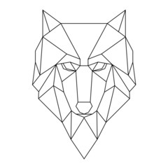 Geometric poligonal wolf vector illustration