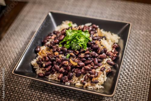 Fotografie, Obraz  rice, beans, cilantro
