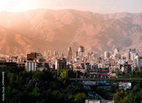 golden hour in busy Tehran