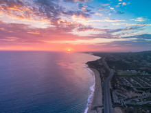 Aerial View Over Crystal Cove ...