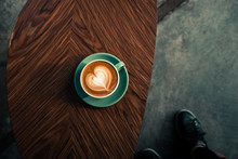 Turquoise Mug Of Flat White Co...
