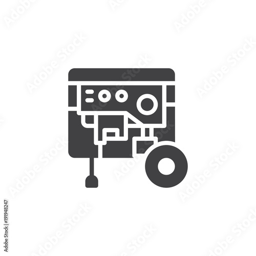 Portable power generator icon vector, filled flat sign, solid ...