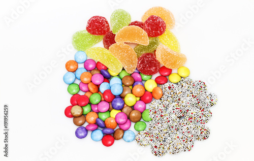 Foto op Aluminium Snoepjes Süßigkeitenmischung