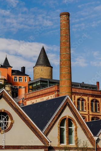 Papiers peints Les vieux bâtiments abandonnés Luxembourg city capital