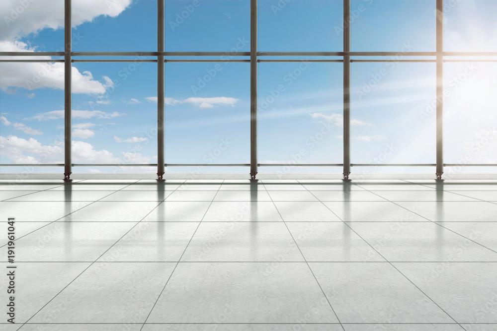 Fototapeta Modern airport terminal building