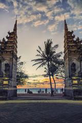 Gate to the Kuta beach in Bali, Indonesia