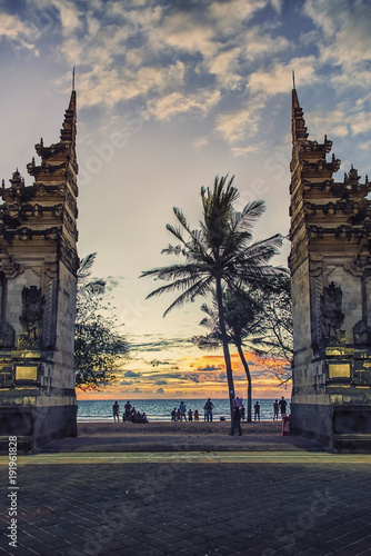 Gate to the Kuta beach in Bali, Indonesia