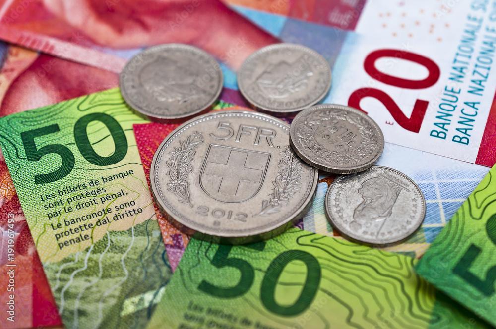 Fototapeta Schweizer Franken