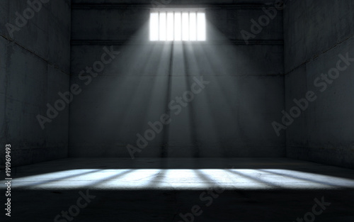 Photo  Sunshine Shining In Prison Cell Window