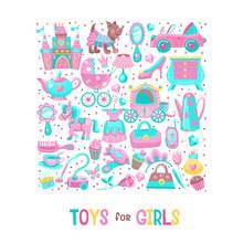 Toys For Little Princesses. Se...